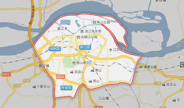 镇江到张家港地图