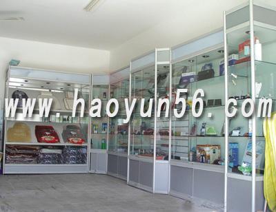 南京木制展示柜台木制货架木制玻璃柜台