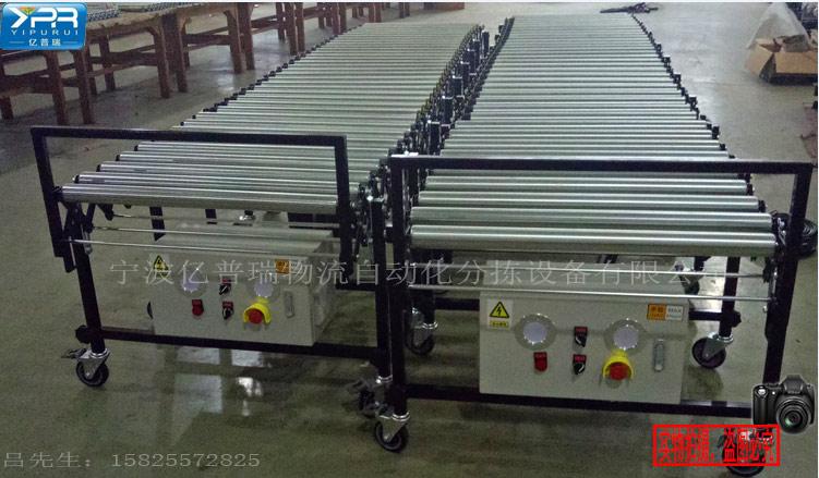 输送线传送机流水线滚筒线滚筒输送线装配线动力伸缩式辊筒输送机