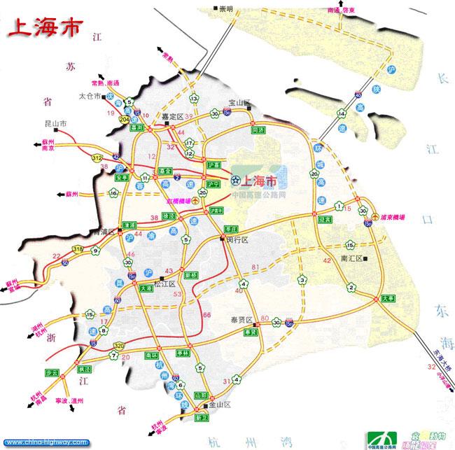 【图】上海高速公路-上海高速公路地图-上海高速公路