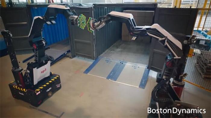 波士顿仓库机器人Stretch炫技:每小时搬运800个50磅箱子,一次充电可工作8小时